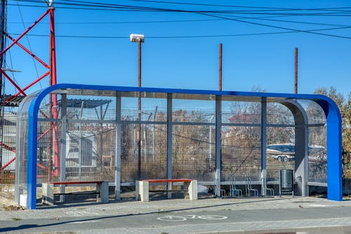 Free stock photo of banch, bus station, industry