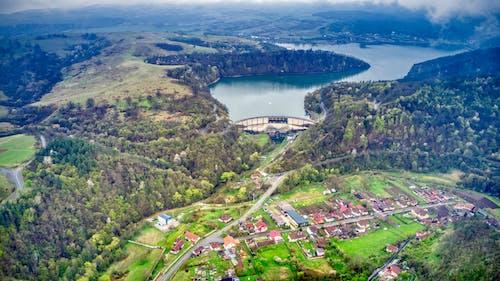 Free stock photo of dam, lake, mountain