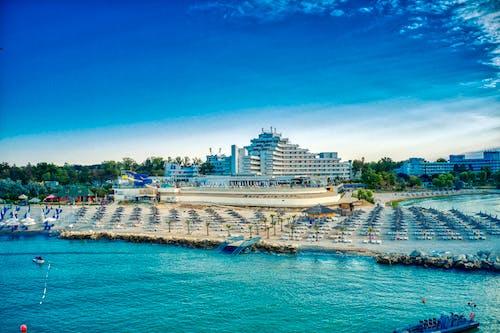Free stock photo of beach, hotel, ocean
