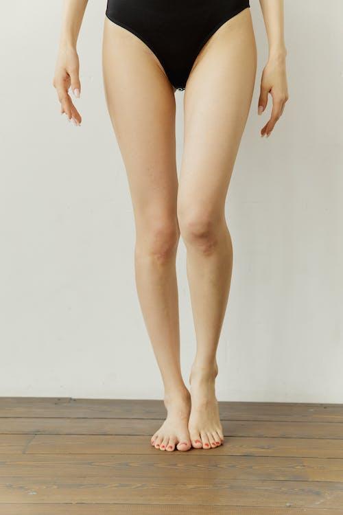 Woman in Black Panty Standing