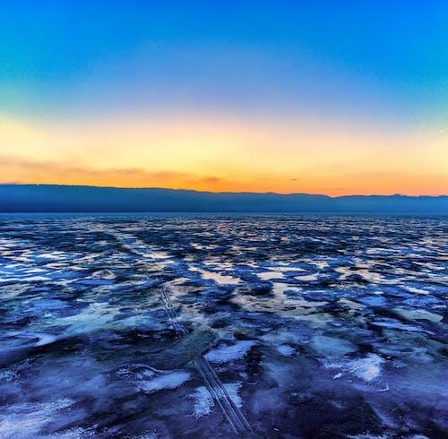 คลังภาพถ่ายฟรี ของ ตอนเช้า, ทะเลสาป, น้ำแข็ง