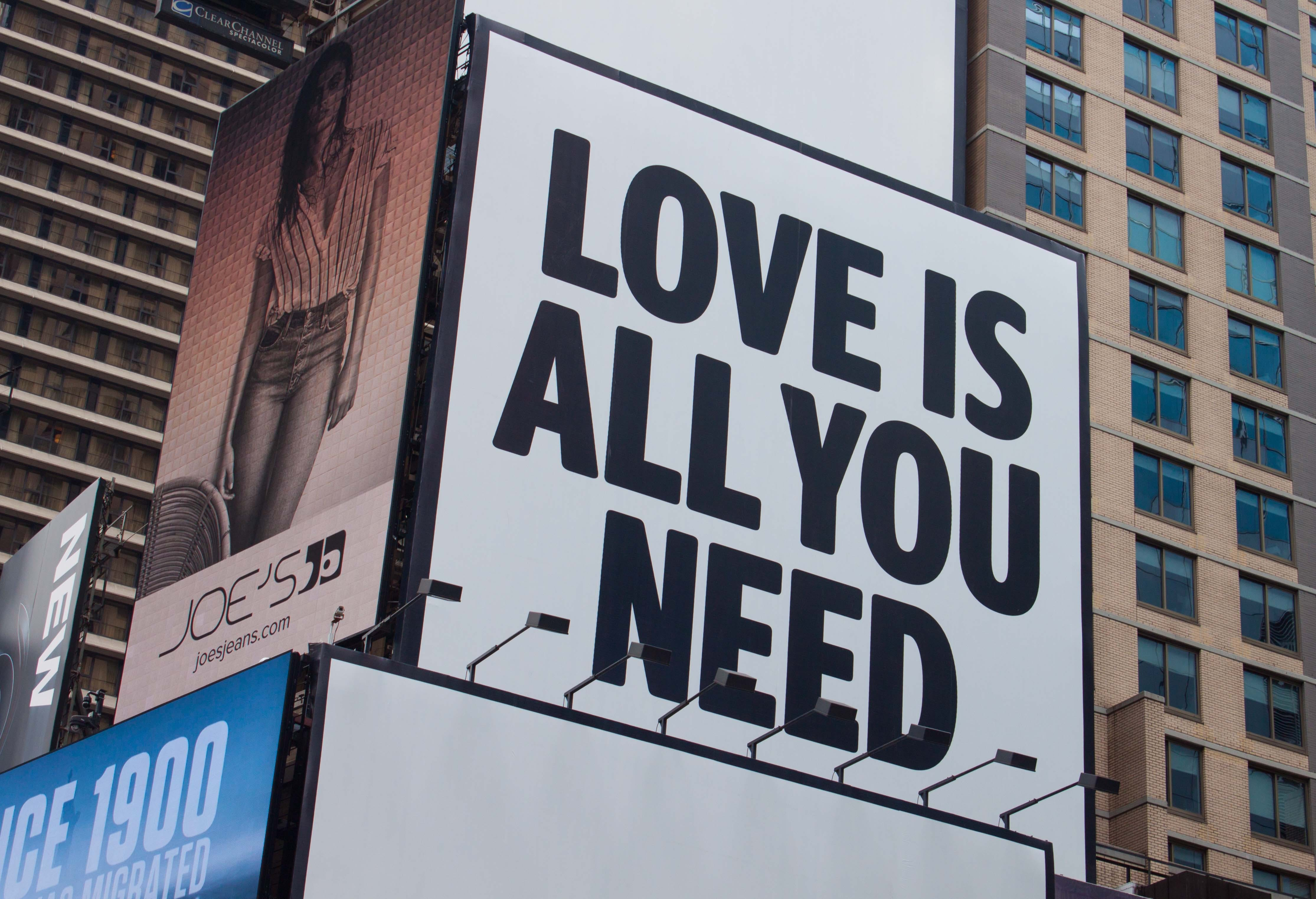 Love Is All You Need Signage