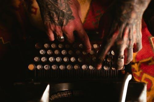 Základová fotografie zdarma na téma klasika, pohled shora, psací stroj
