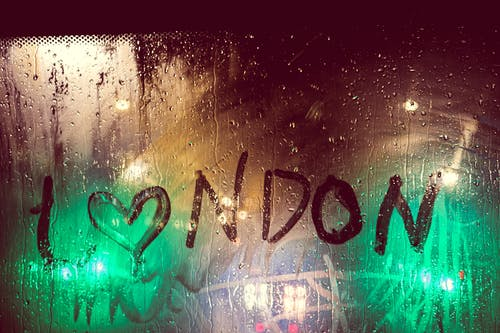 Darmowe zdjęcie z galerii z ciemny, deszcz, londyn, mokry