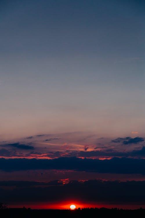 Základová fotografie zdarma na téma obloha, prázdno, soumrak, svítání