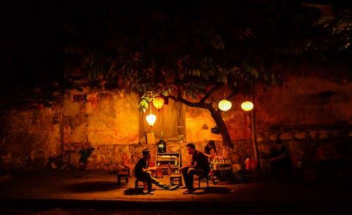 Kostenloses Stock Foto zu baum, beleuchtung, chinesische laternen, dunkel