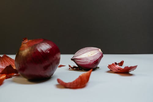 Two Red and White Garlic