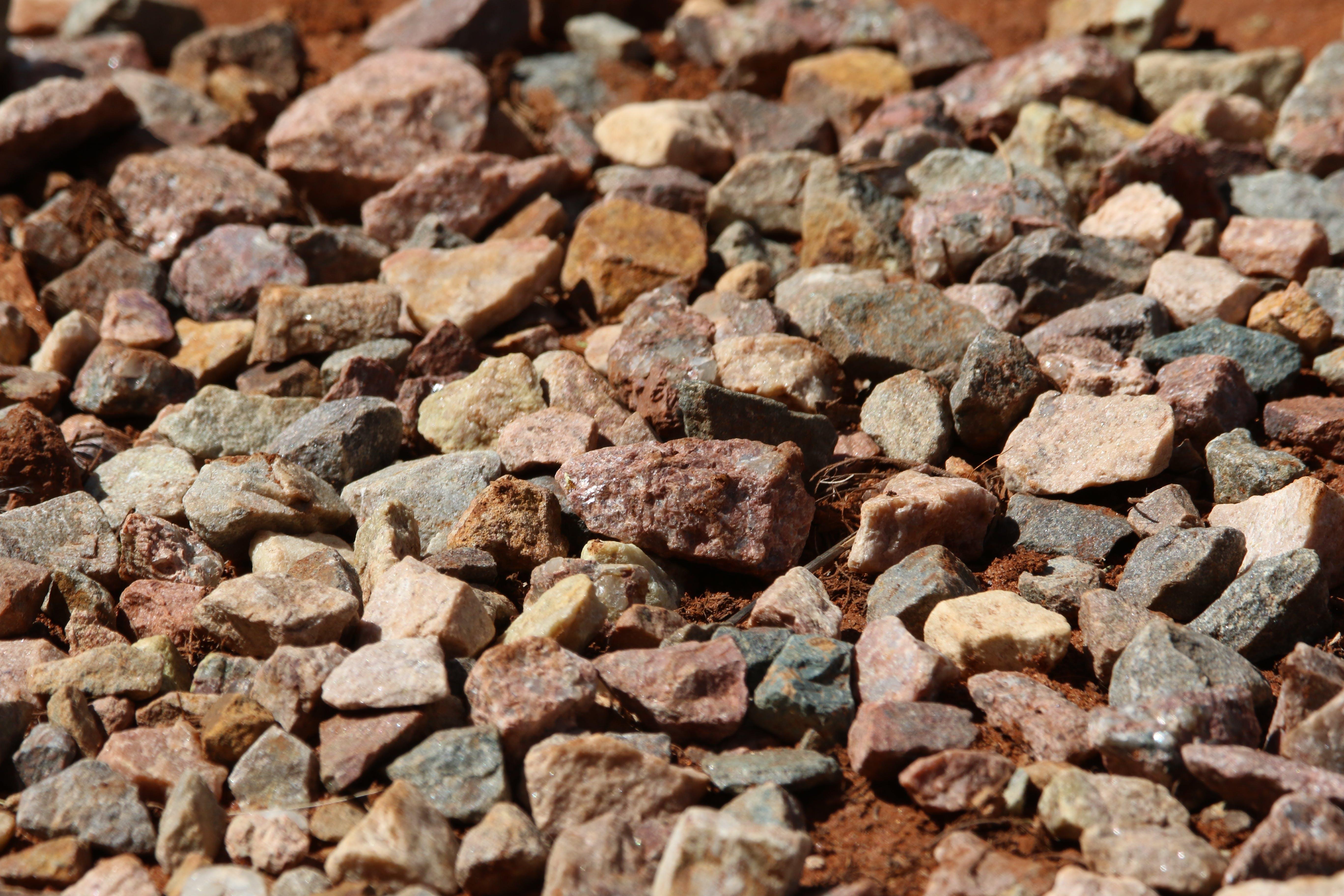 dno, hrubý, kamene