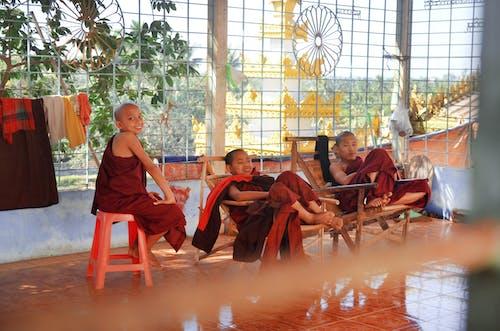 Kostenloses Stock Foto zu buddhismus, freude, friedlich, glück