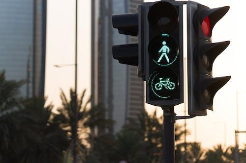 Close-Up Shot of a Traffic Light