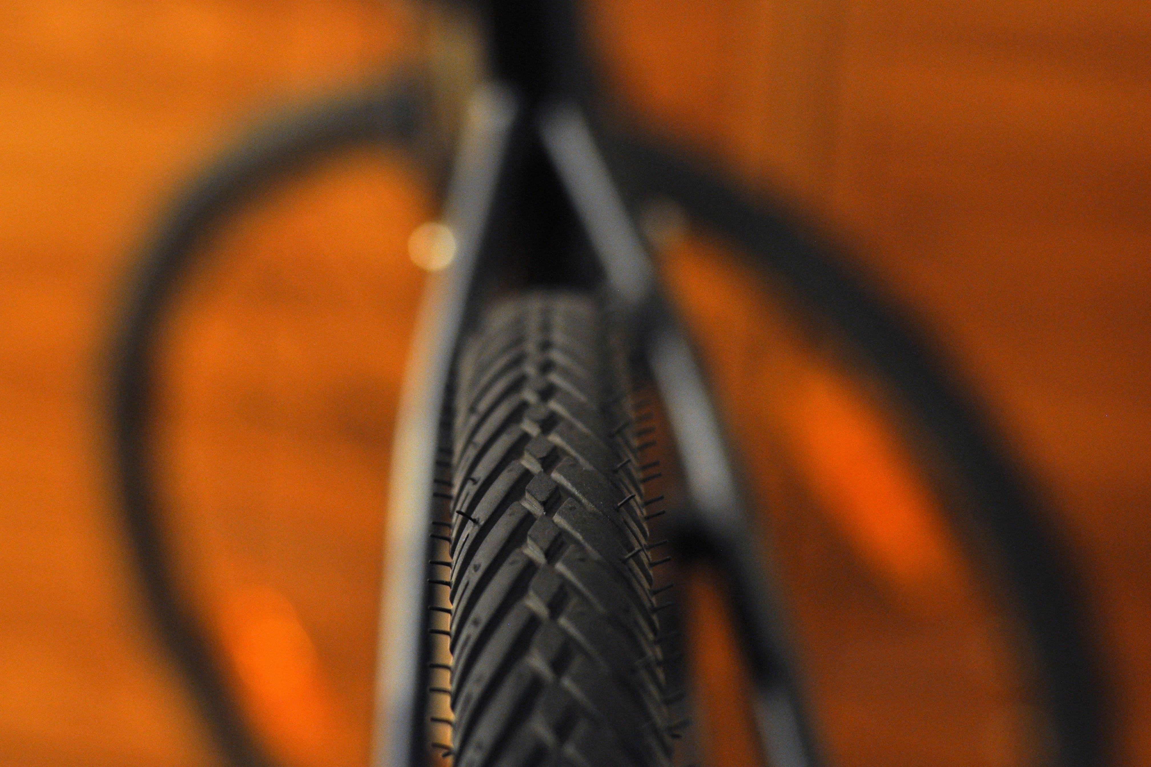 Close Up Photo of Bicycle Tire