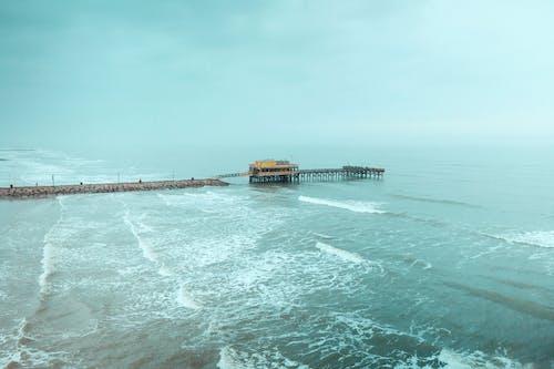 Free stock photo of beach, cloudy, fog