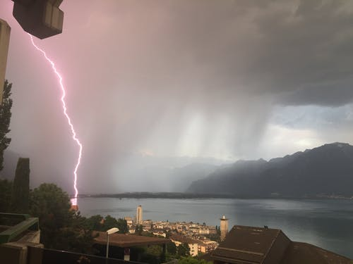 Immagine gratuita di colpo di fulmine, fulmine, ginevra, pioggia