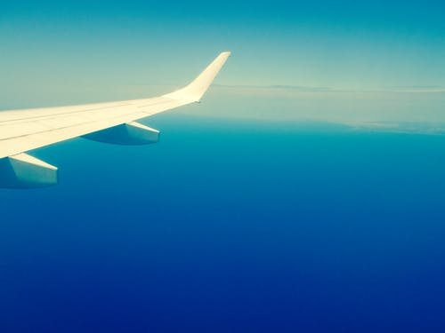 White Airplane Wing