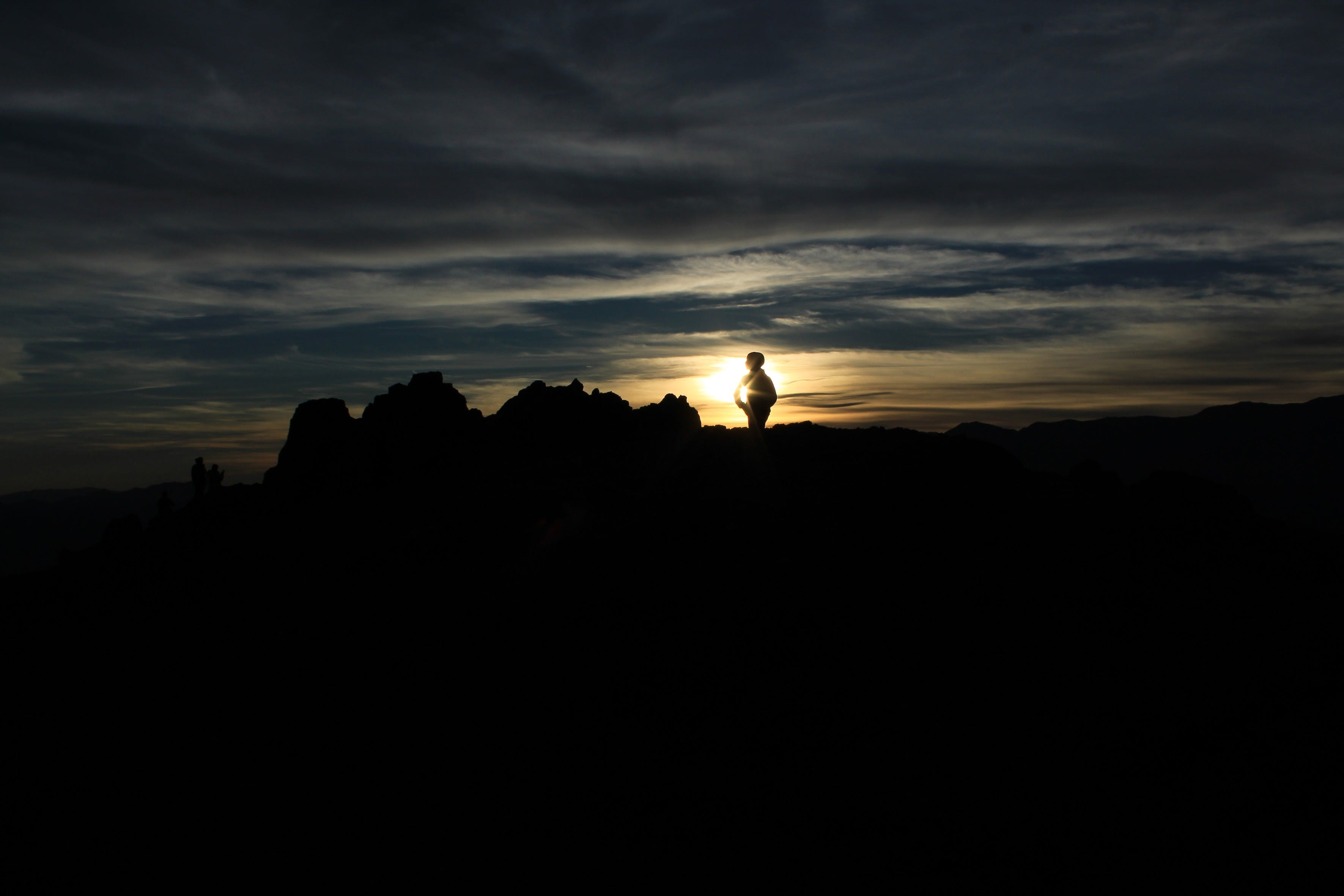 Free stock photo of death valley, shadows, sunset, two people