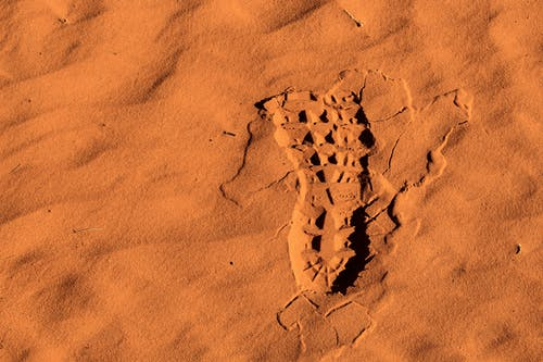 Photo of Right Footprint on Sand