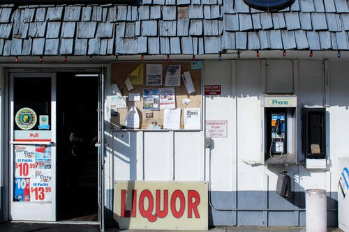 Free stock photo of gas, liquor, old gas station, phone