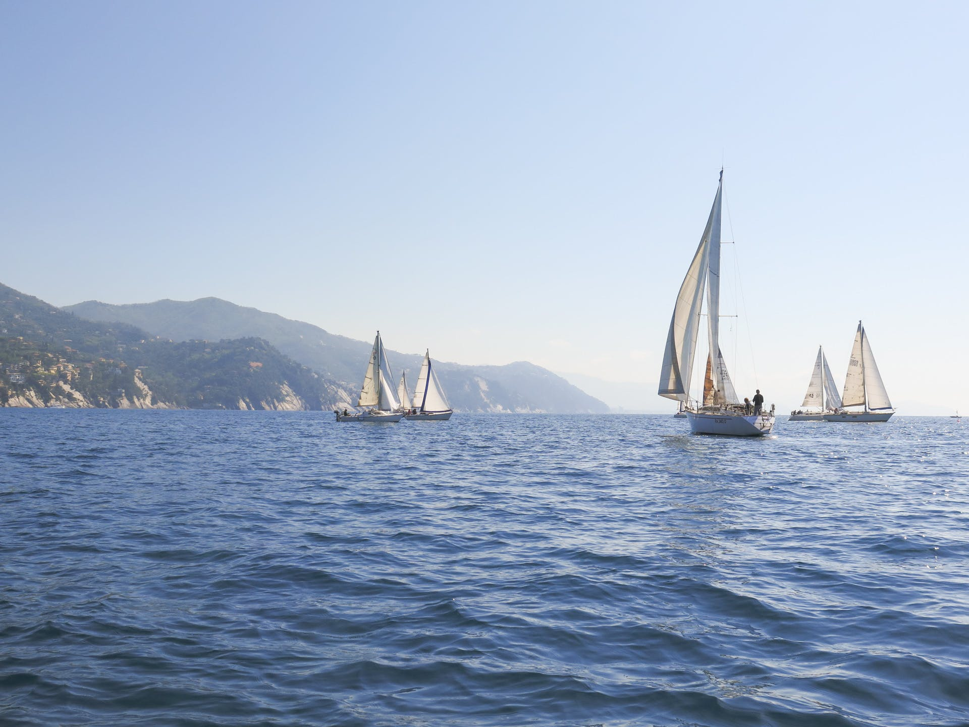 Free stock photo of boat, mediterranean sea, rapallo, sailing