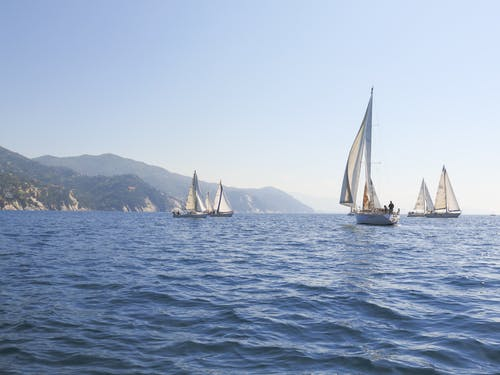 Free stock photo of boat, mediterranean sea, rapallo, sailing