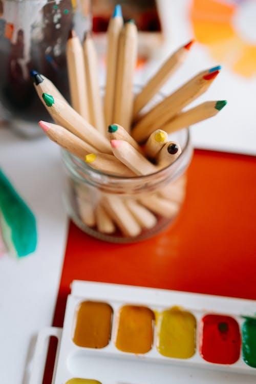 Kostenloses Stock Foto zu aquarell, ausbildung, bildung