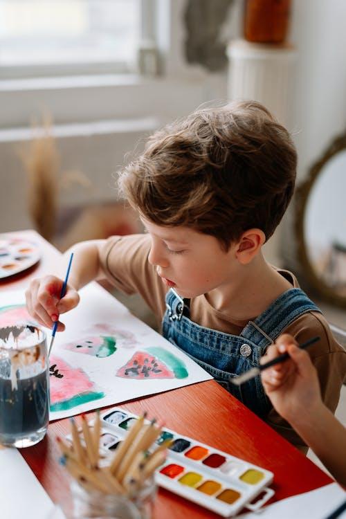Kostenloses Stock Foto zu aquarellmalerei, ausbildung, bildung
