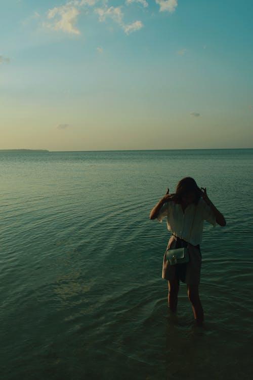Free stock photo of backlit, beach, beach sunset