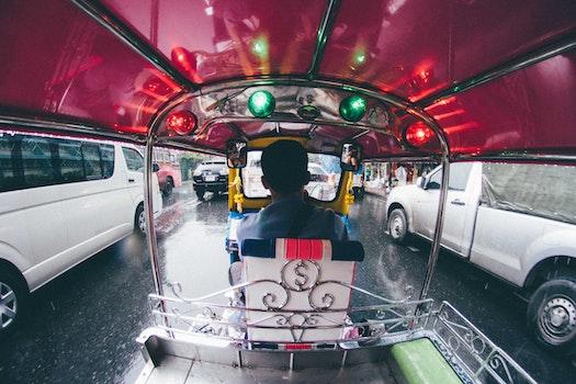 Free stock photo of city, traffic, car, rain