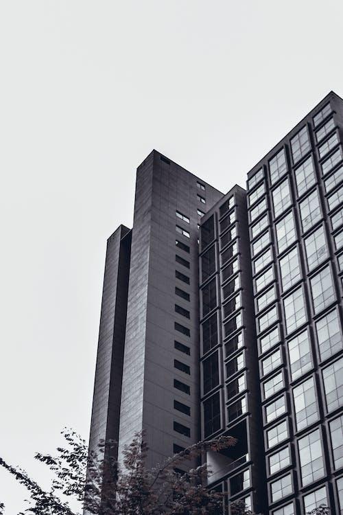 Immagine gratuita di architettura moderna, argento, condomini, design architettonico