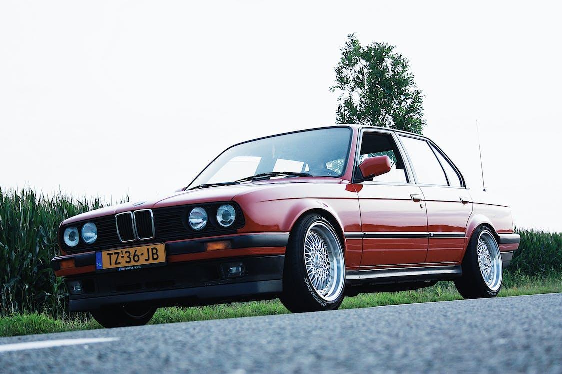 asfalt, bil, BMW