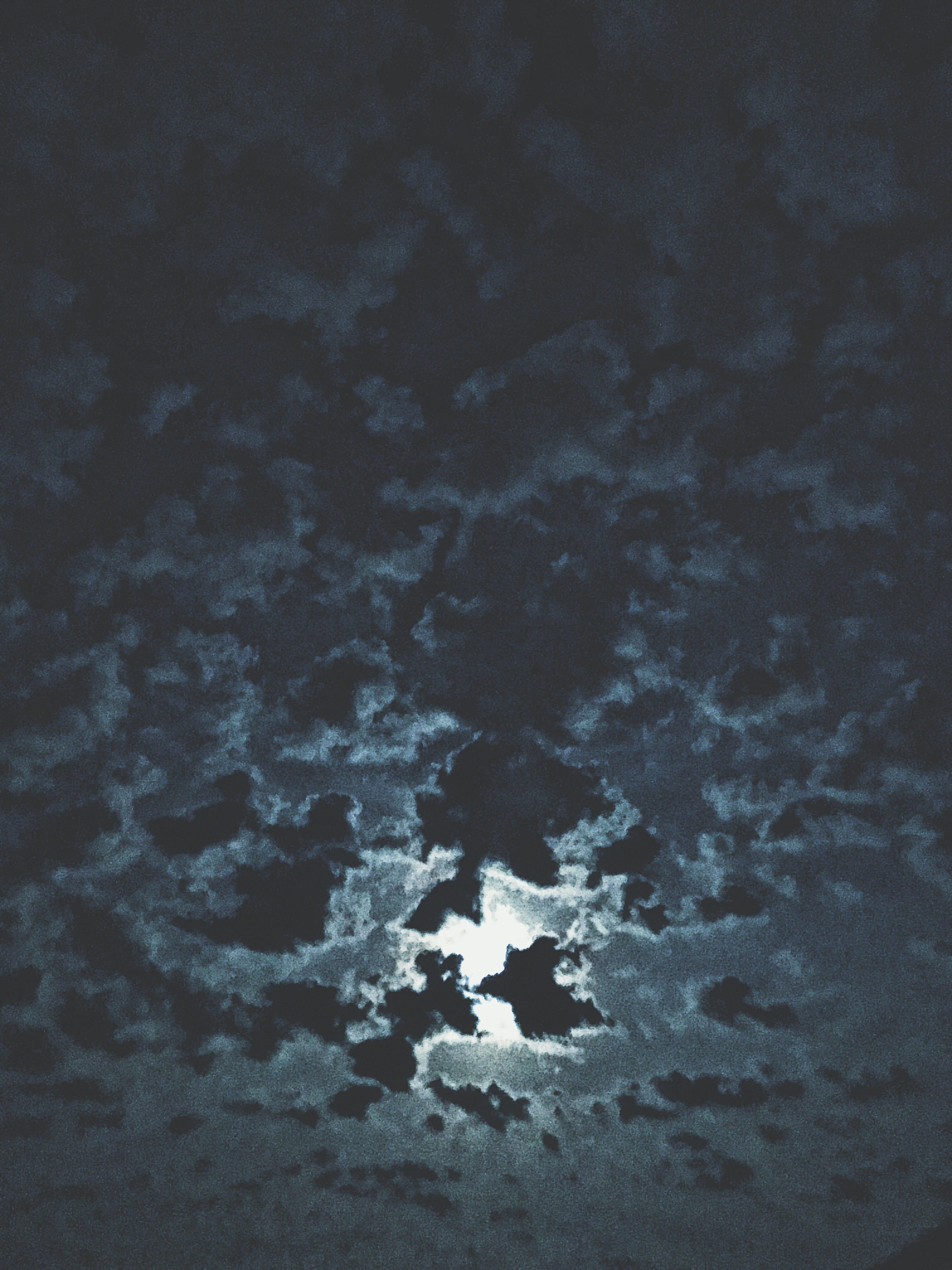 Moon Surrounded By Clouds