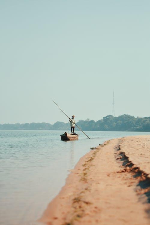 ακτή, αλιευτικό σκάφος, άμμος