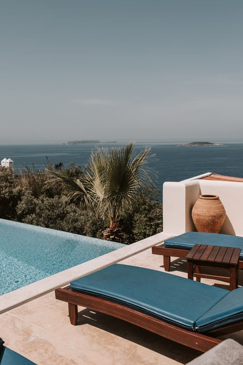 A Scenic View Of The Sea From Poolside