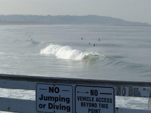 Kostenloses Stock Foto zu meer, san diego, surfer, wellen