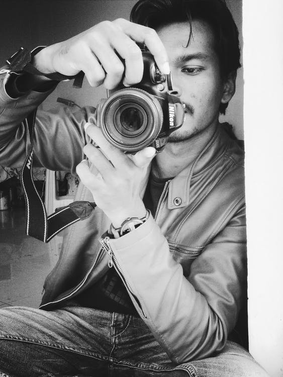 adulte, appareil photo, capturer