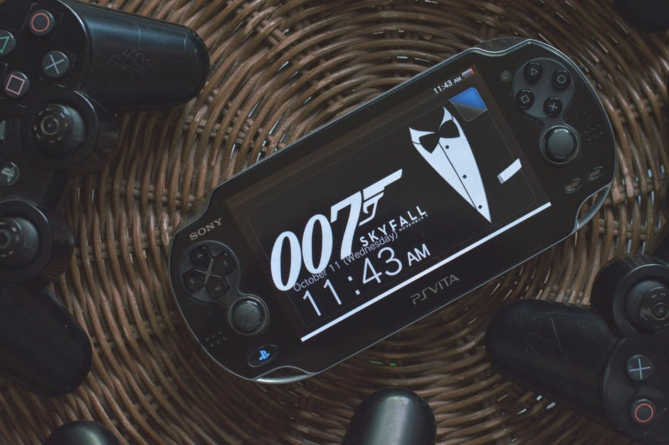 Black Psvita With 007 Skyfall Wallpaper