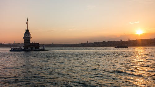 Free stock photo of Istanbul, sea, sunset, town