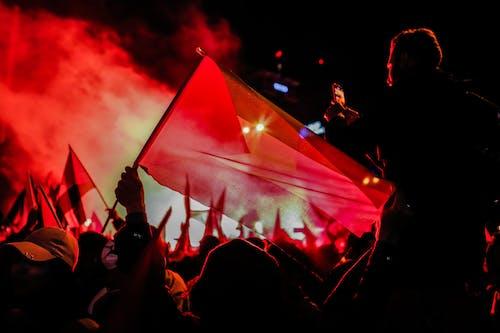 Foto stok gratis api, asap, bendera