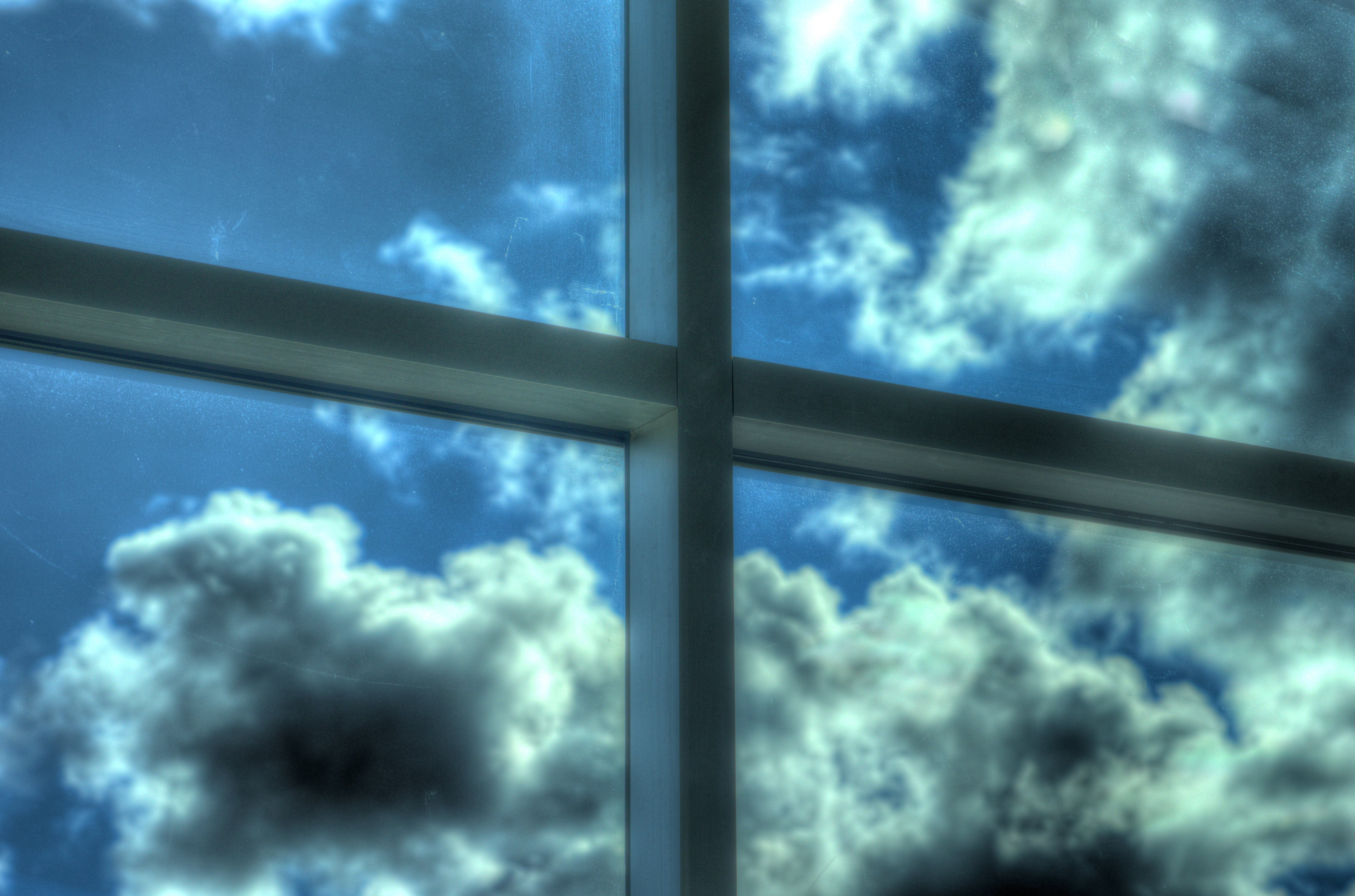 Free stock photo of clouds, cross, blue sky, hdr