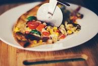 food, pizza, dinner
