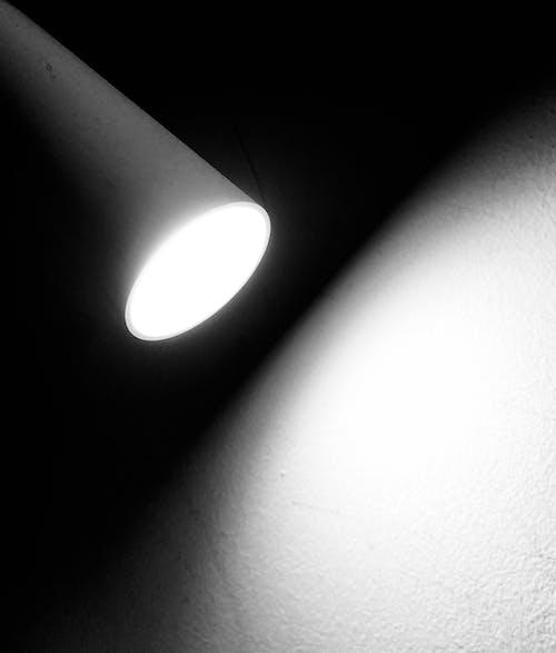Free stock photo of lamp, light, monochrome photography