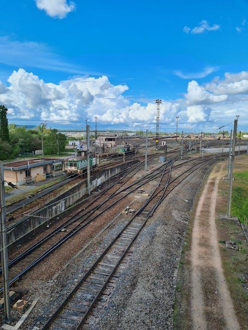 Free stock photo of goods train, railroads, railway