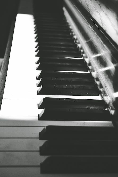 Darmowe zdjęcie z galerii z cień, czarno-biały, dźwięk