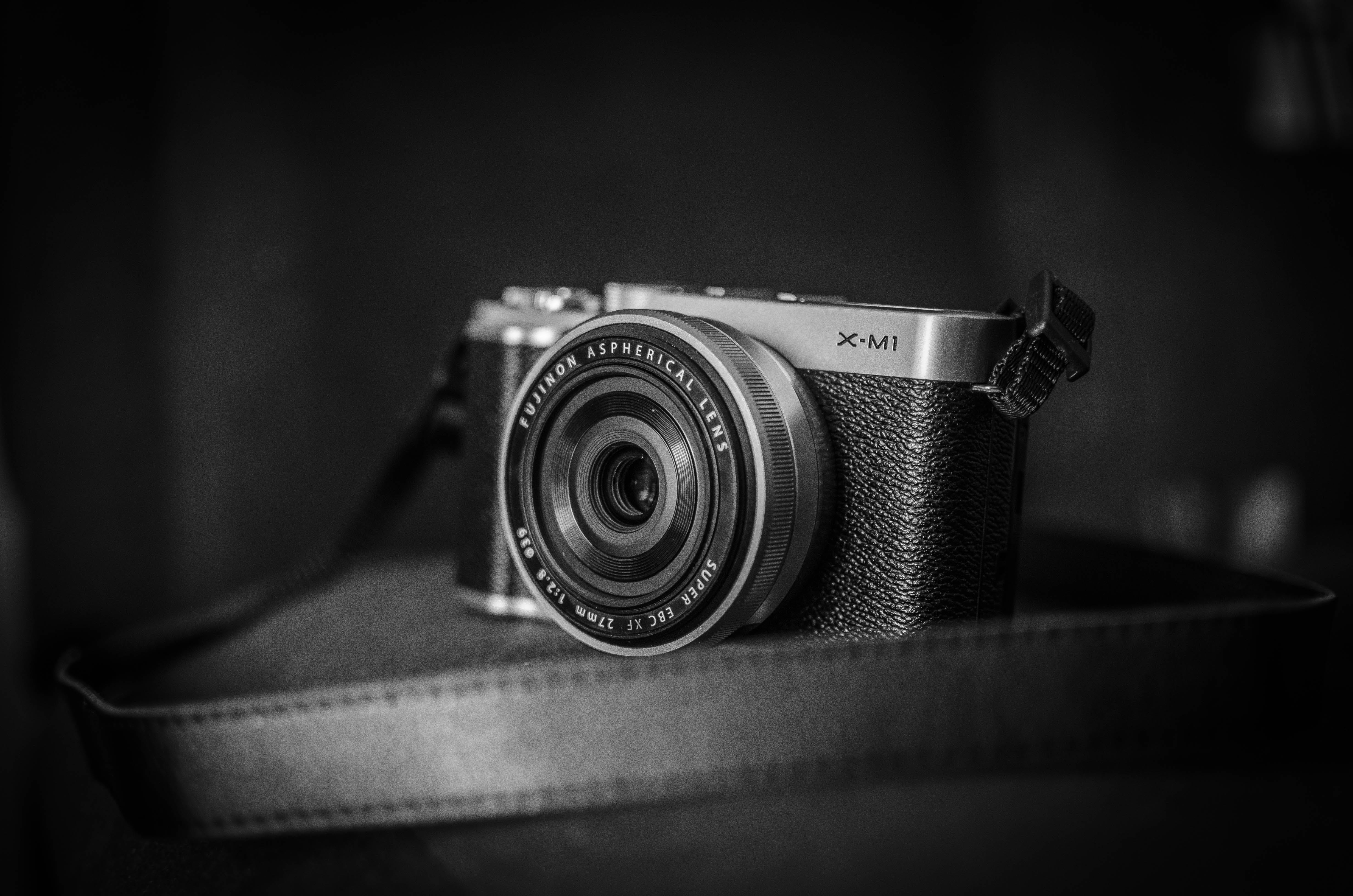 Grayscale Photography of Slr Camera
