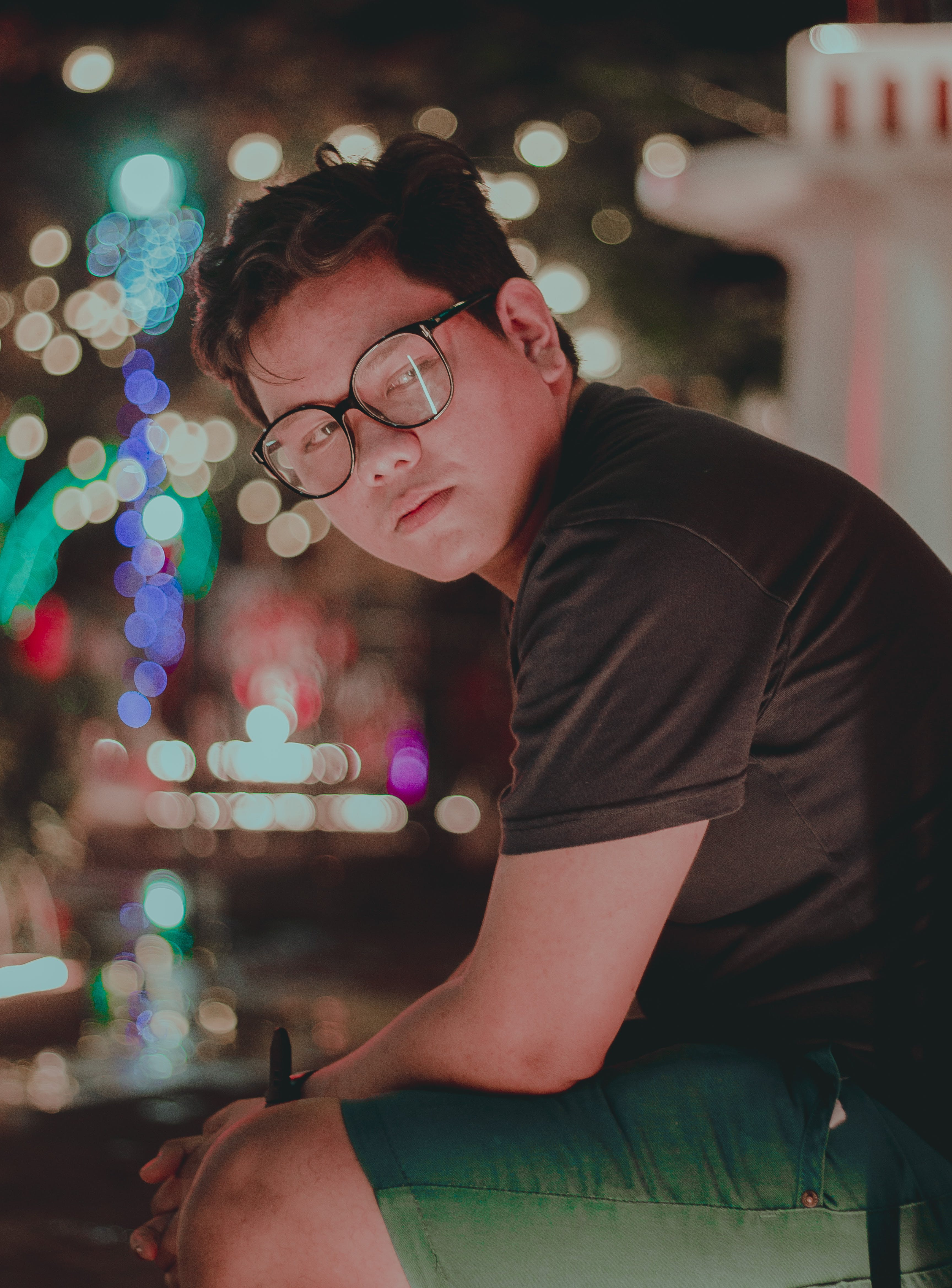 Photography of a Man Wearing Eyeglasses