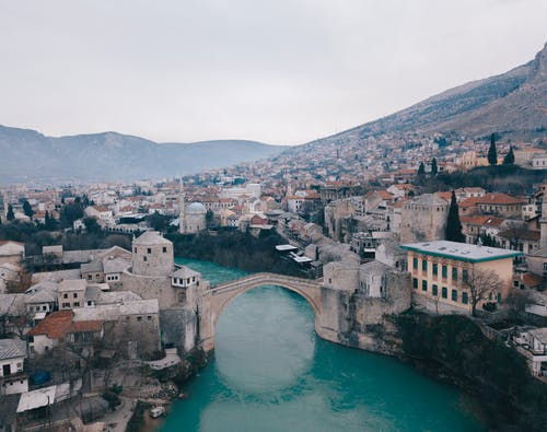 The Famous Bridge in the Town of Mostar