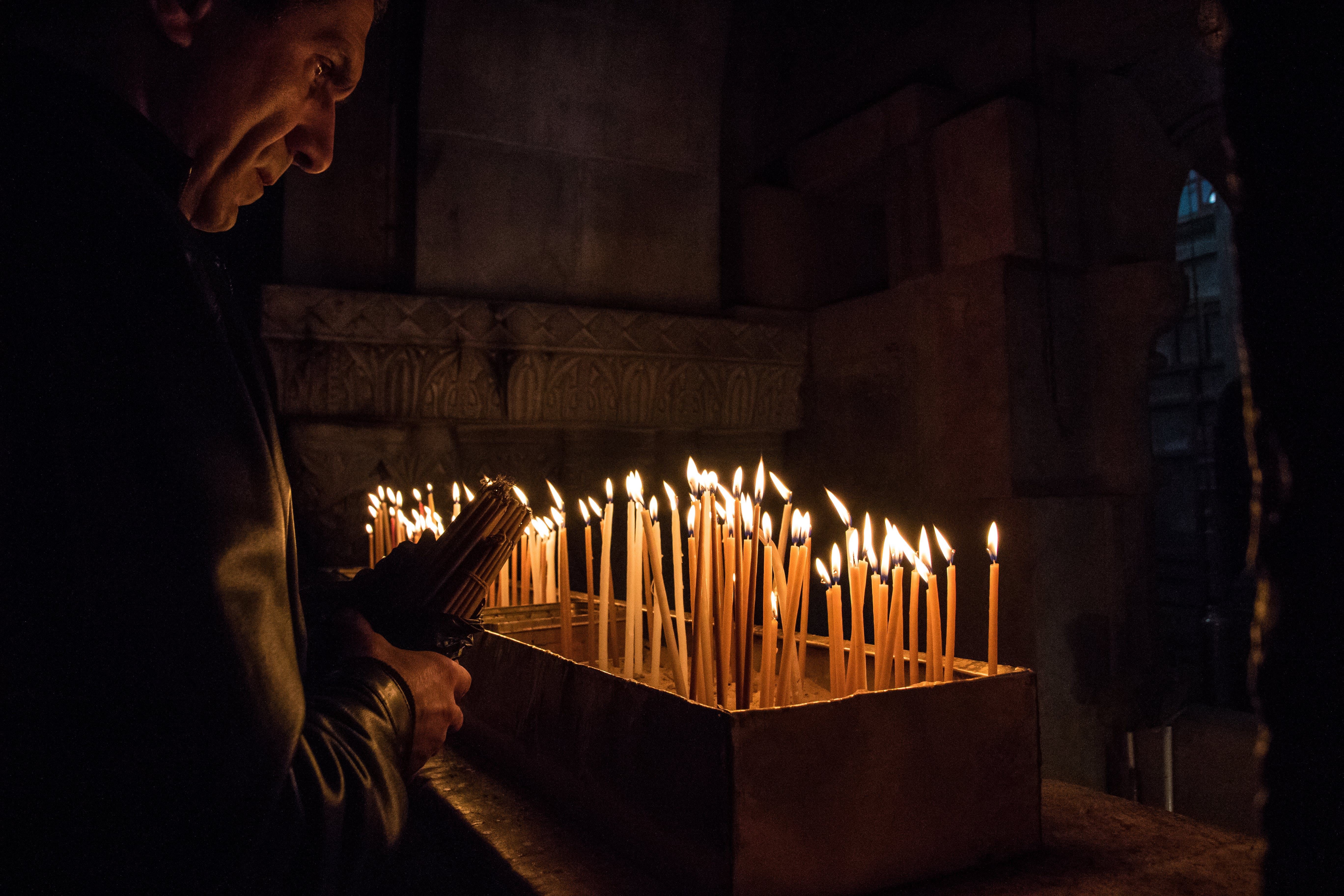 Free stock photo of candles, church, dark, fire