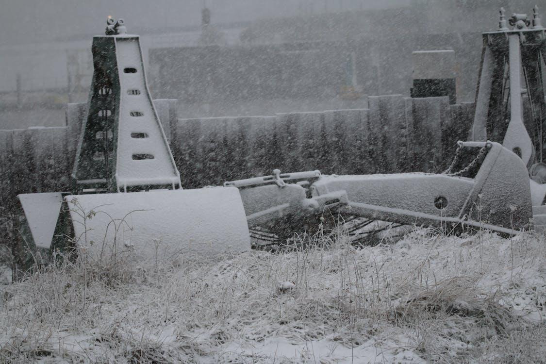 contradecir, cubierto de nieve, maquinaria industrial