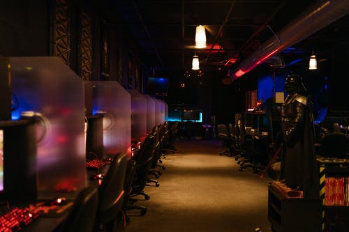 A Room of Gaming Computers