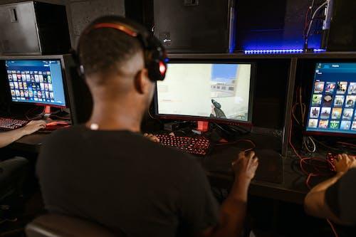 Man Playing Counter-Strike