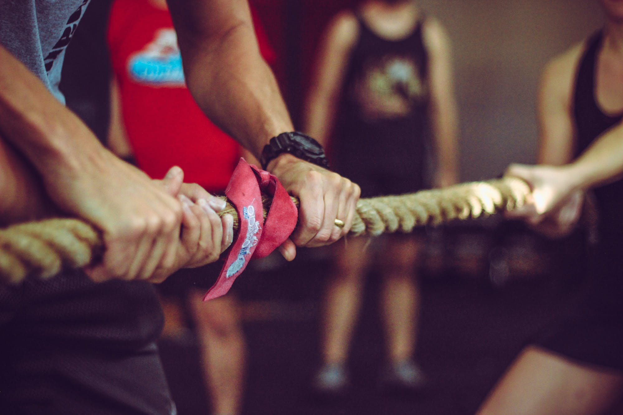 Free stock photo of hands, rope, exercise, gym